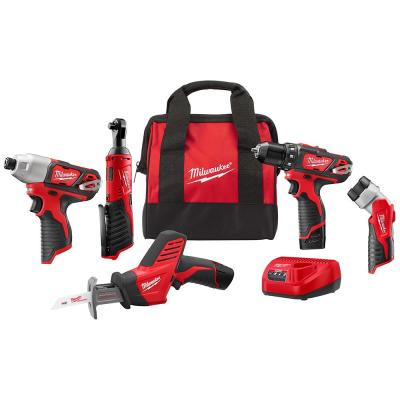 Milwaukee M12 12-Volt Lithium-Ion Cordless Combo Kit (5-Tool)