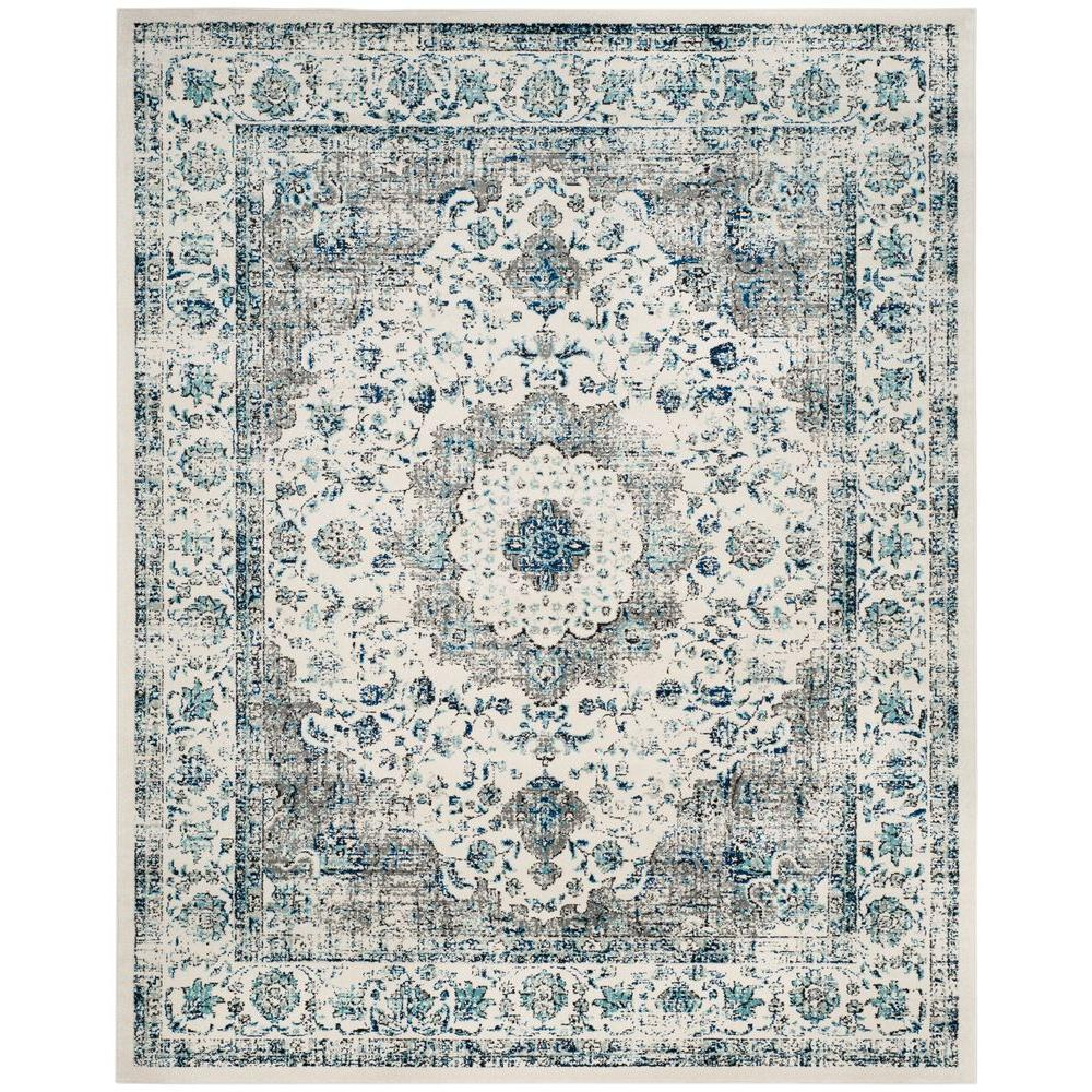 Safavieh Evoke Gray Ivory 8 Ft X 10 Ft Area Rug Evk220d 8 The