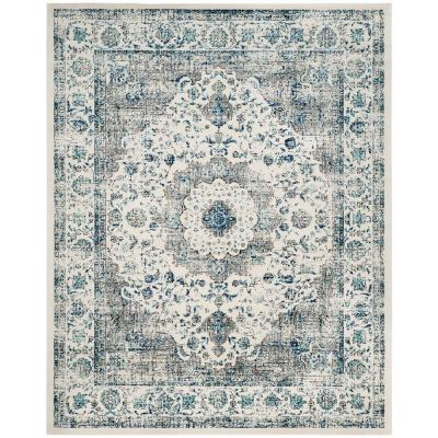 Evoke Gray/Ivory 8 ft. x 10 ft. Area Rug