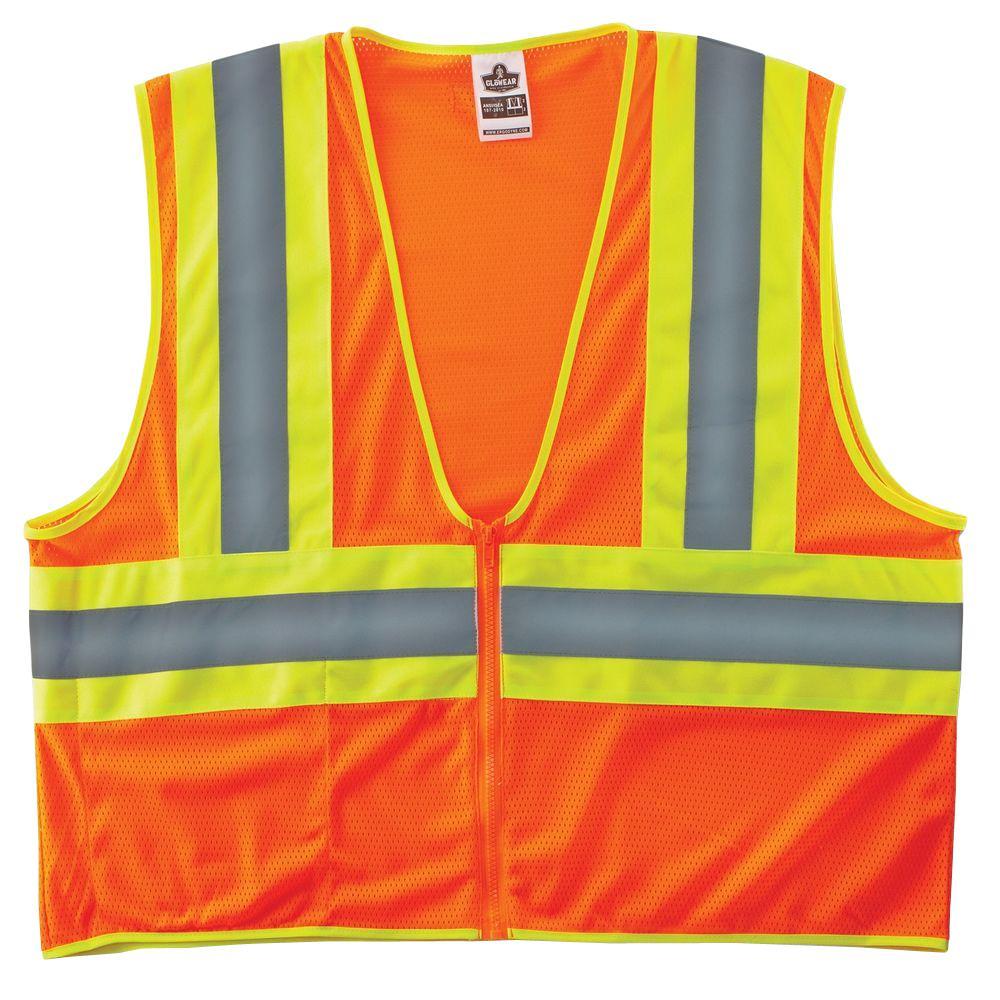 Glowear 8229Z Class 2 Economy 2-Tone Vest, Orange