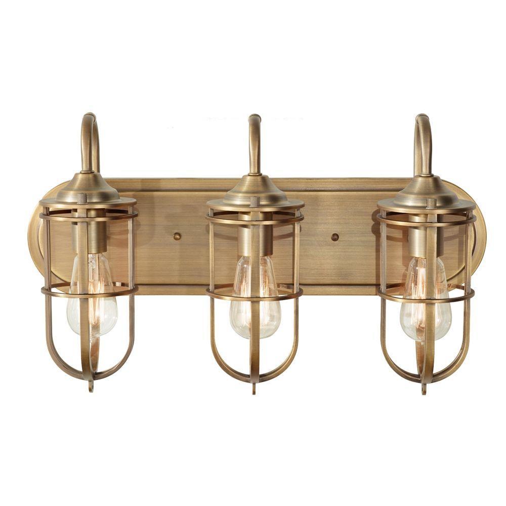 Urban Renewal 3-Light Dark Antique Brass Vanity Light