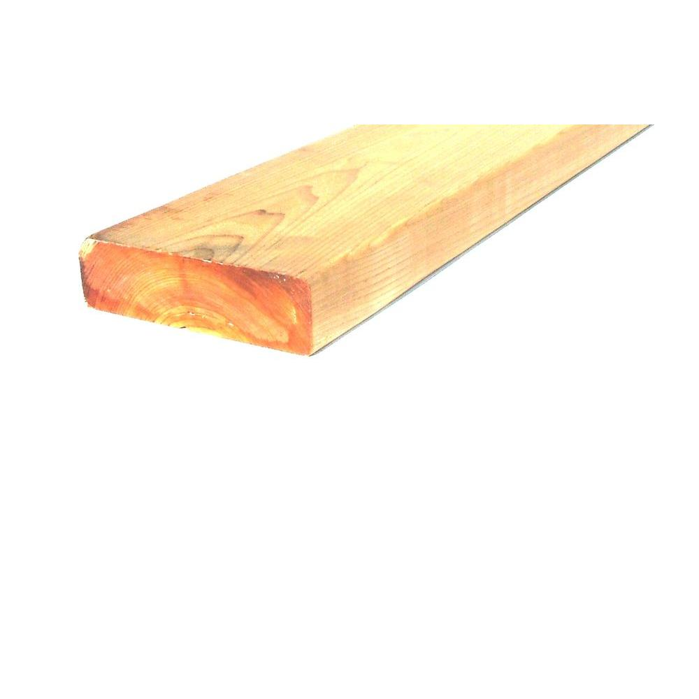 2 in. x 4 in. x 8 ft. Western Red Cedar