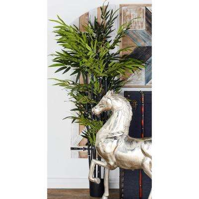 Artificial Bamboo Tree with Black Pot