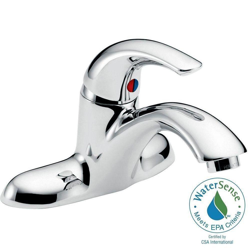 Teck 2 Hole Single-Handle Bathroom Faucet in Chrome