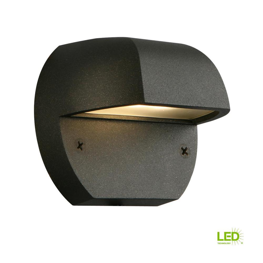 hampton bay low voltage black outdoor integrated led surface mount light - Outdoor Surface Mount Light