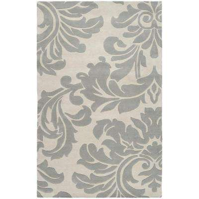 Bellaire Gray 4 ft. x 6 ft. Indoor Area Rug
