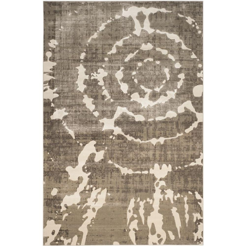 Porcello Grey/Ivory 6 ft. x 9 ft. Area Rug