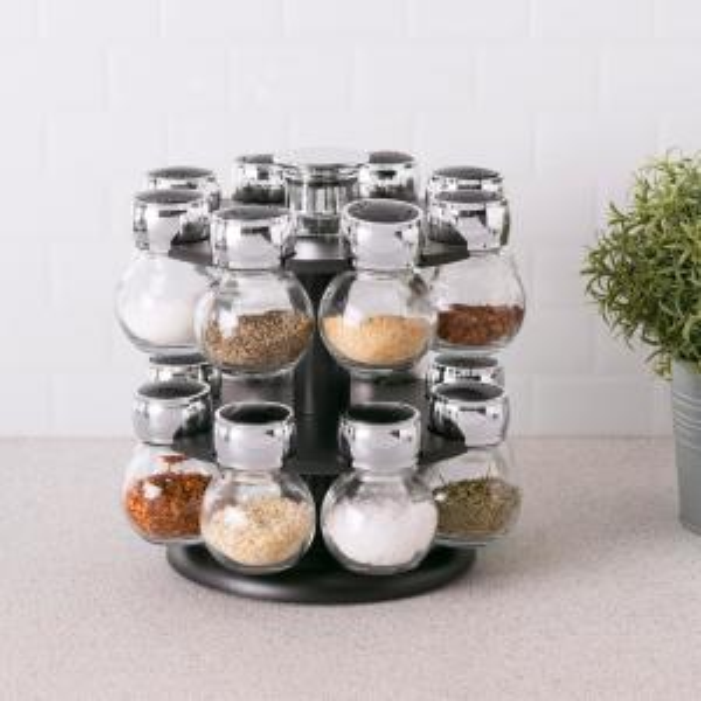 16-Piece Revolving Spice Rack