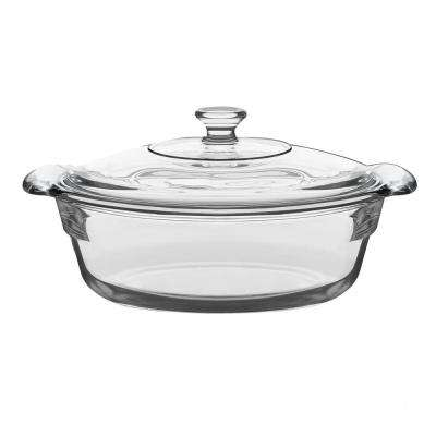 Baker's Premium 2 Qt. Glass Casserole with Cover