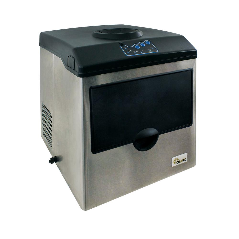 Chard 40 lb. Freestanding Ice Maker in Stainless Steel