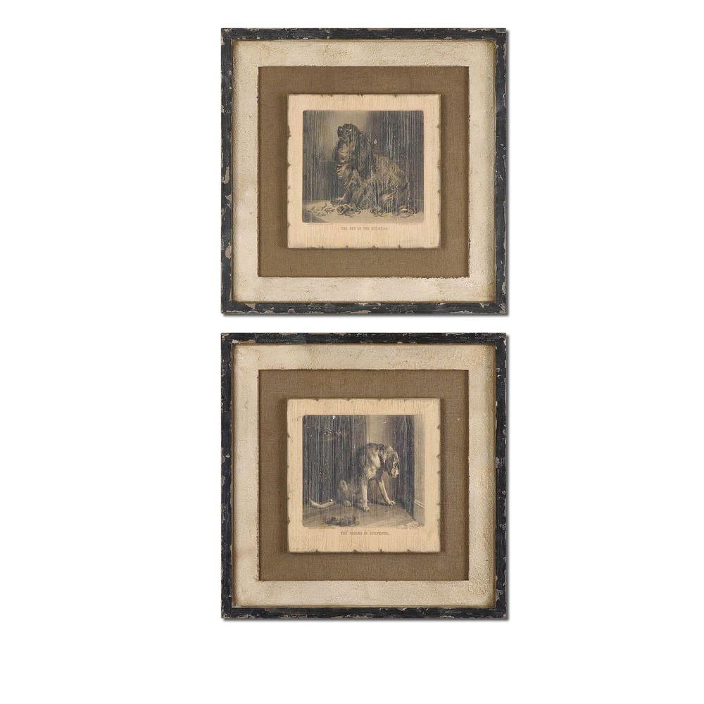 Global Direct 23 in. x 23 in. Loyal Companion Wall Art (2 Piece)-DISCONTINUED
