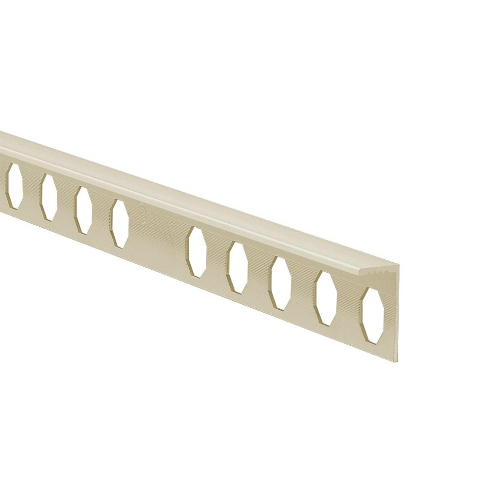 Novosuelo Ivory 3/8 in. x 98-1/2 in. PVC Tile Edging Trim