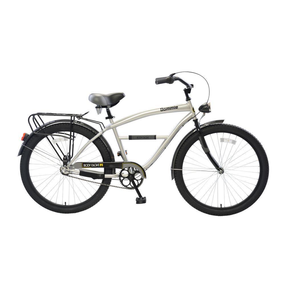 Body Glove Bommie Cruiser 26 in. Wheels Oversized Frame Men's Bike in Silver, Grays