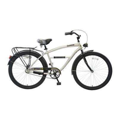 Bommie Cruiser 26 in. Wheels Oversized Frame Men's Bike in Silver