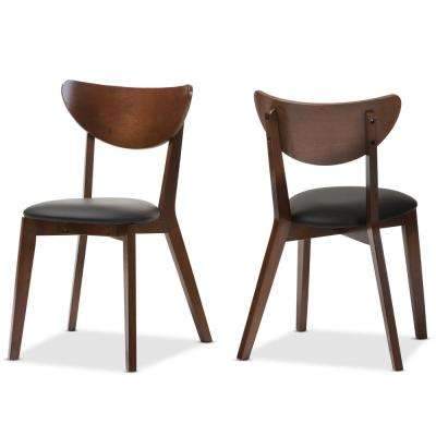 Sumner Black Faux Leather Upholstered Dining Chairs (Set of 2)
