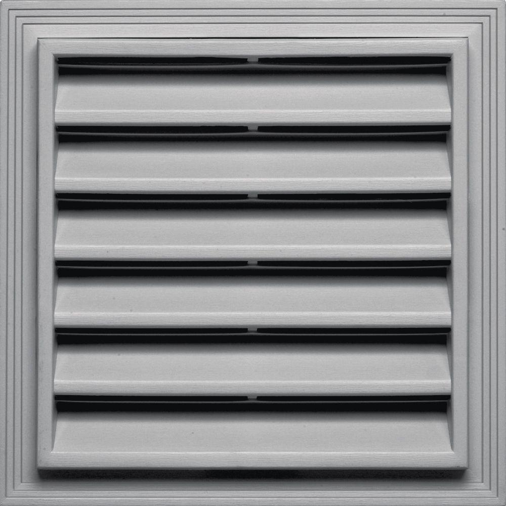 12 in. x 12 in. Square Gable Vent in Gray