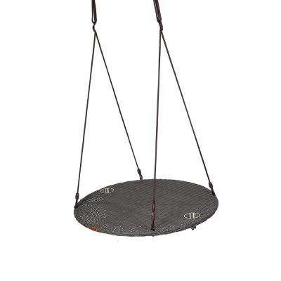 Chill 40 in. Weathered Grey Rattan Wood Patio Swing