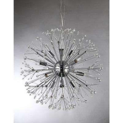 Eupifinia 12-Light Chrome Indoor Chandelier with Spherical Shape