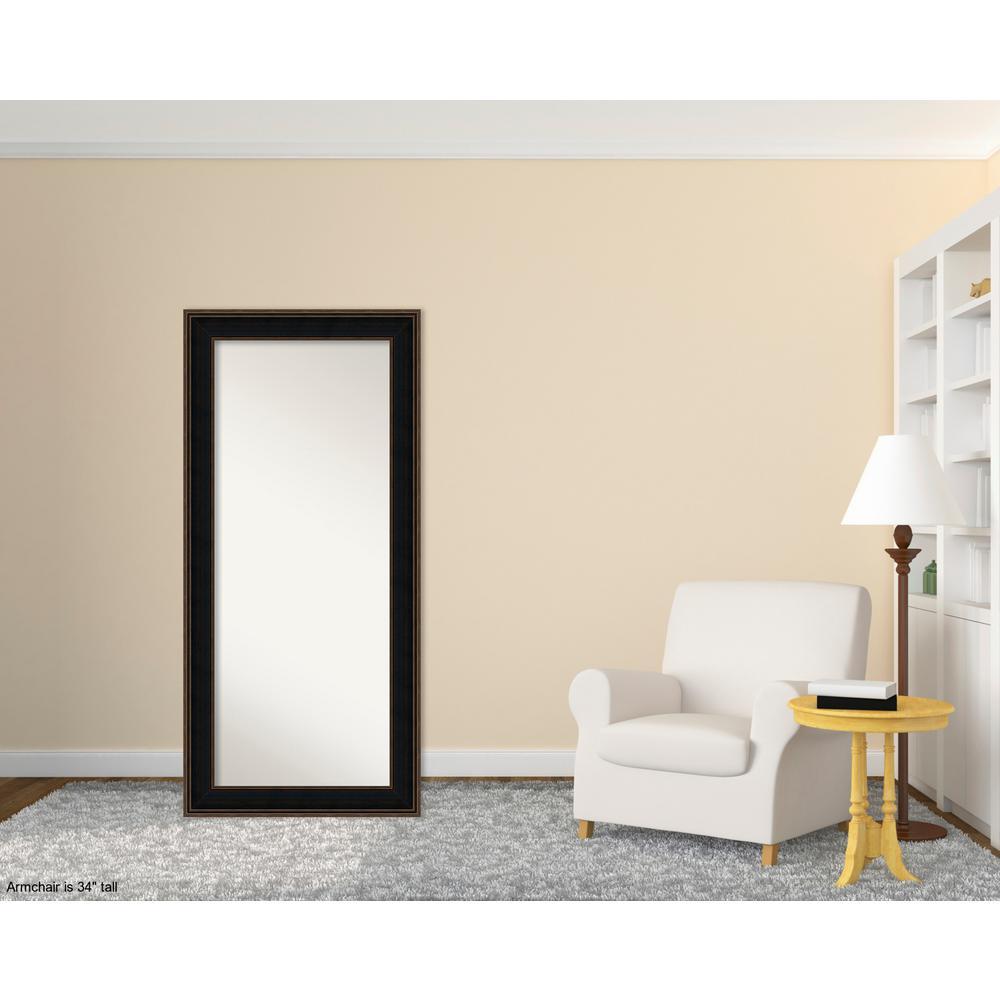 Mezzanine 32 in. W x 68 in. H Contemporary Espresso Wood Floor/Leaner Mirror