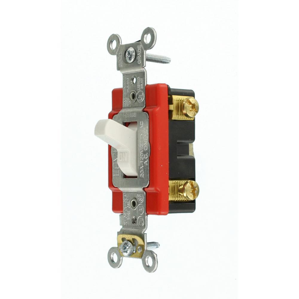 Leviton Single Pole Lighted Toggle Switch 20 Amp