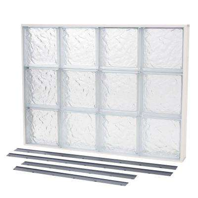 NailUp2 Ice Pattern Solid Glass Block Window