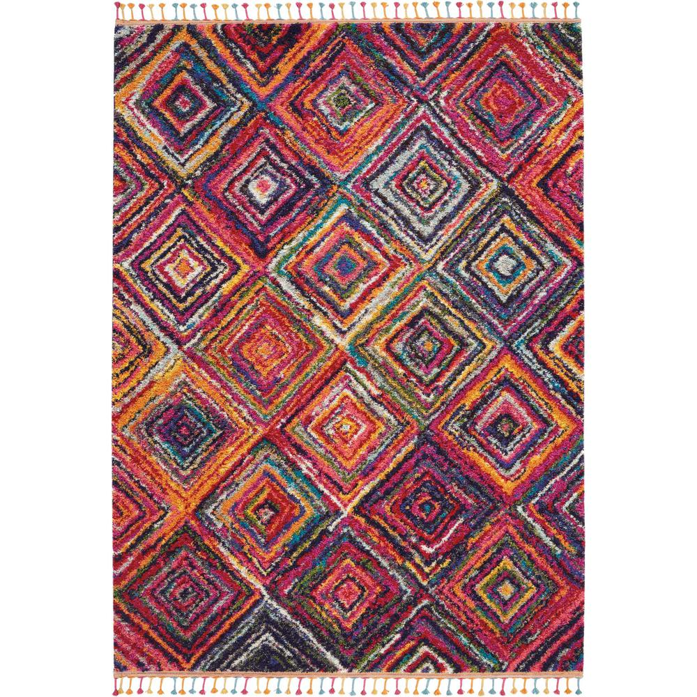 Nourison Moroccan Casbah 4' X 6' Red Tribal Area Rug
