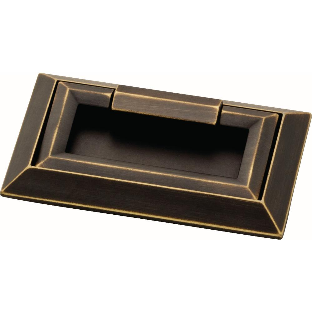 External Campaign 3 in. (76mm) Bronze with Gold Highlights Drawer Pull