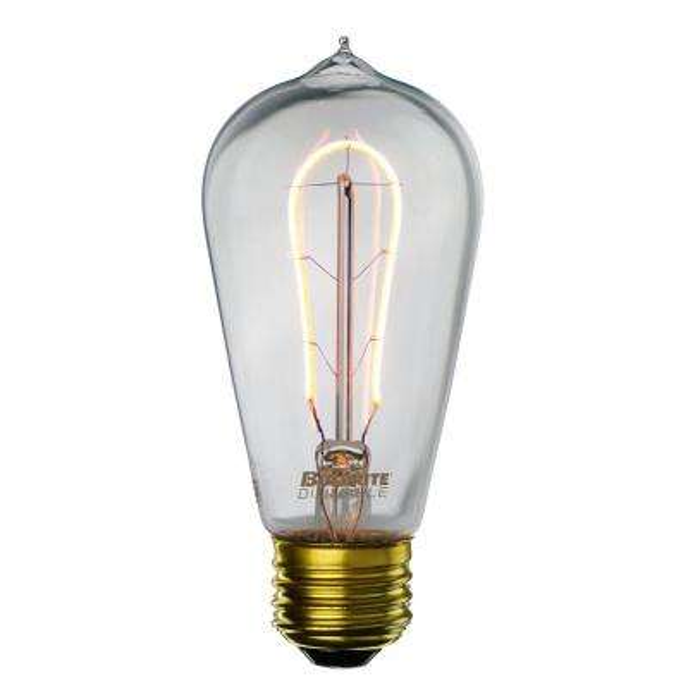 40W Equivalent Amber Light ST18 Dimmable LED Curved Filament Nostalgic Light Bulb (2-Pack)