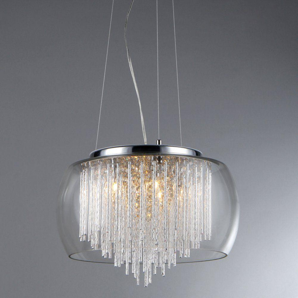 Warehouse Of Tiffany Odysseus 5 Light Crystal Chandelier With Shade