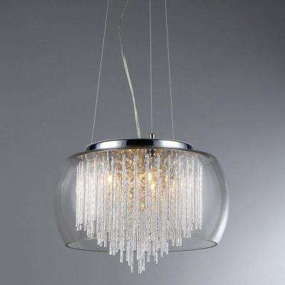 Odysseus 5-Light Crystal Chandelier with Shade