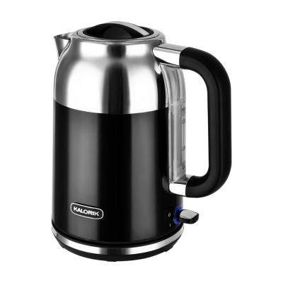 Retro 7-Cup Black Cordless Electric Kettle