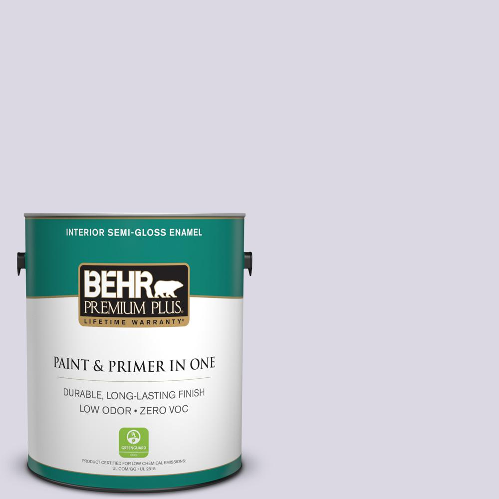 1-gal. #S570-1 Misty Lavender Semi-Gloss Enamel Interior Paint