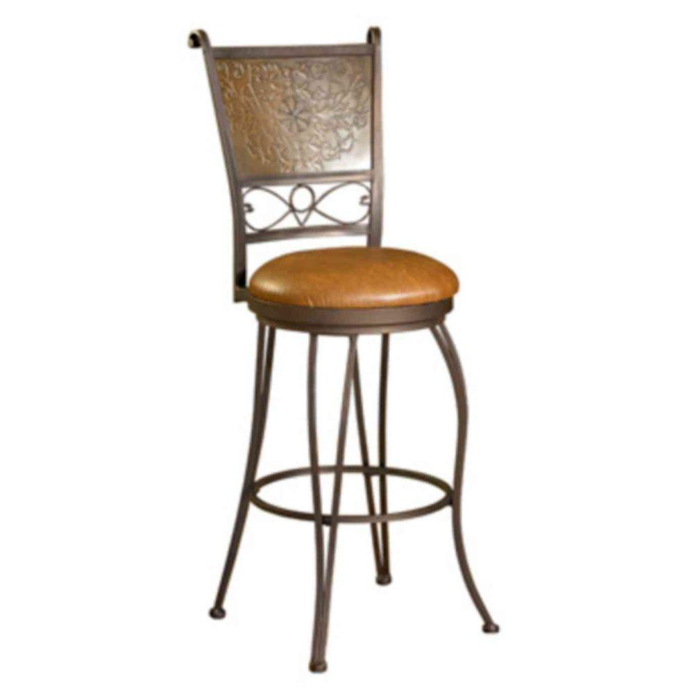 Powell 30 in. Bronze and Copper Cushioned Bar Stool
