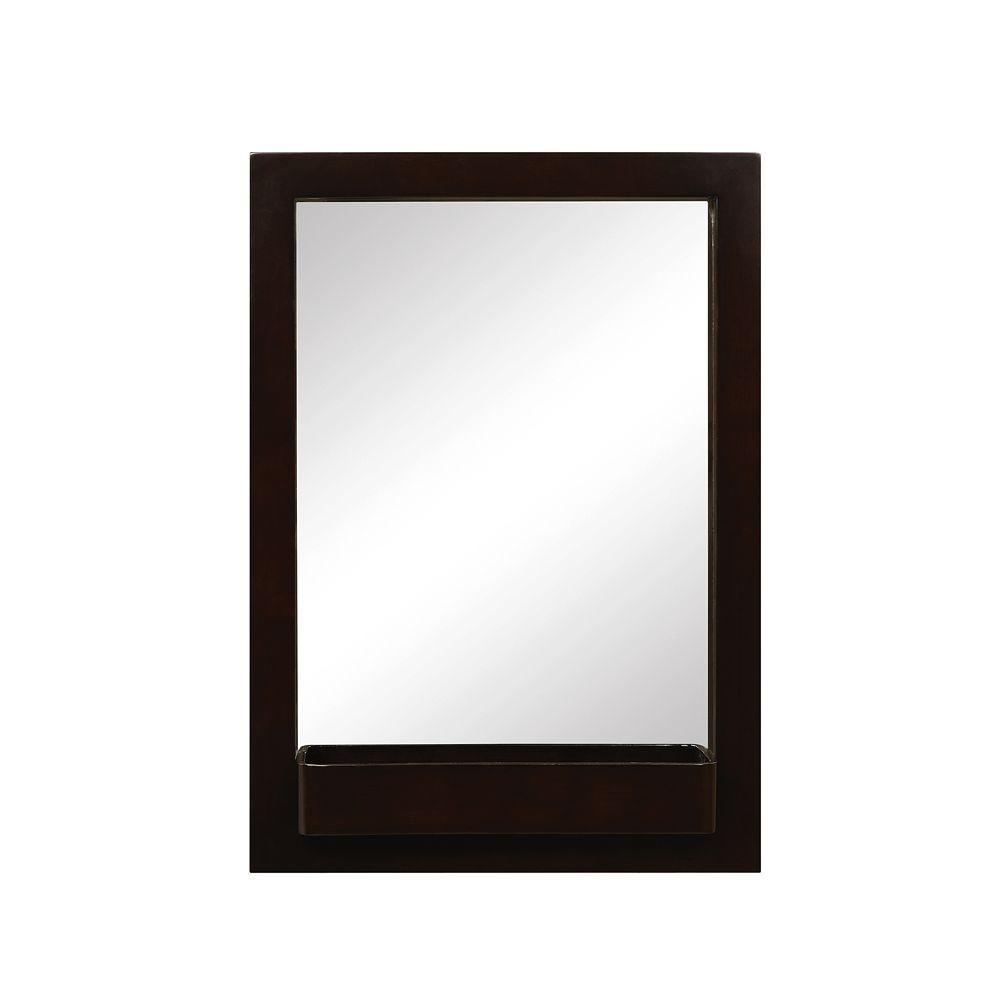 DECOLAV Haddington 22 in. W x 2 in. D x 31 in. H Wall Mirror in Espresso
