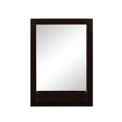 Haddington 22 in. W x 2 in. D x 31 in. H Wall Mirror in Espresso