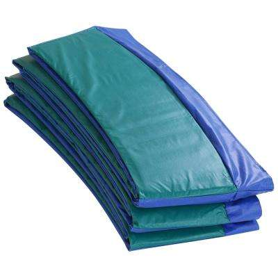 Blue/Green Super Trampoline Safety Pad Spring Cover Fits for 15 ft. Round Trampoline Frame