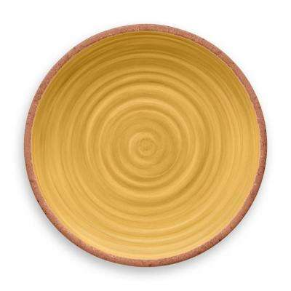 Rustic Swirl Yelow Dinner Plate Yellow (Set of 6)
