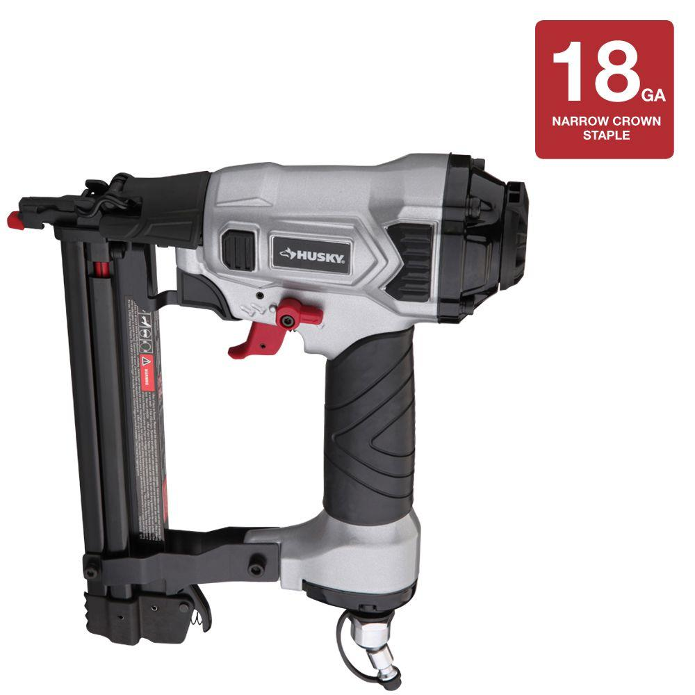 Husky Reconditioned DP Series 1.25 in. x 18-Gauge Class A Narrow Crown Stapler-DISCONTINUED