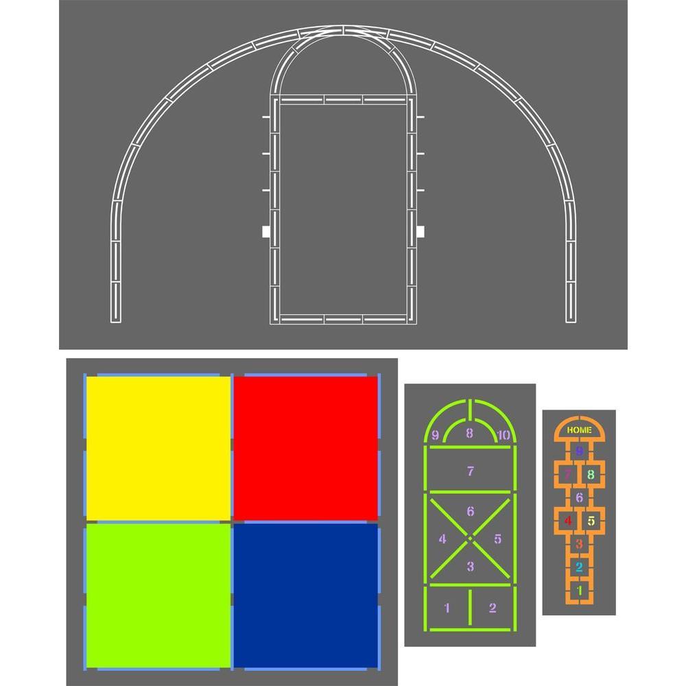 1 in. Playground Stencil Kit