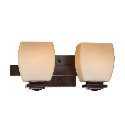 Designer Collection 2-Light Bronze Wall Bath Vanity Light