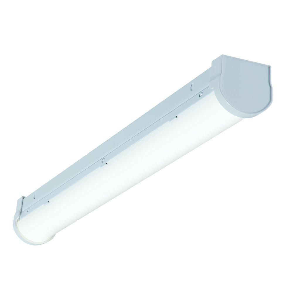 2 ft. 32-Watt Equivalent White Integrated LED Strip Light Fixture, 1000