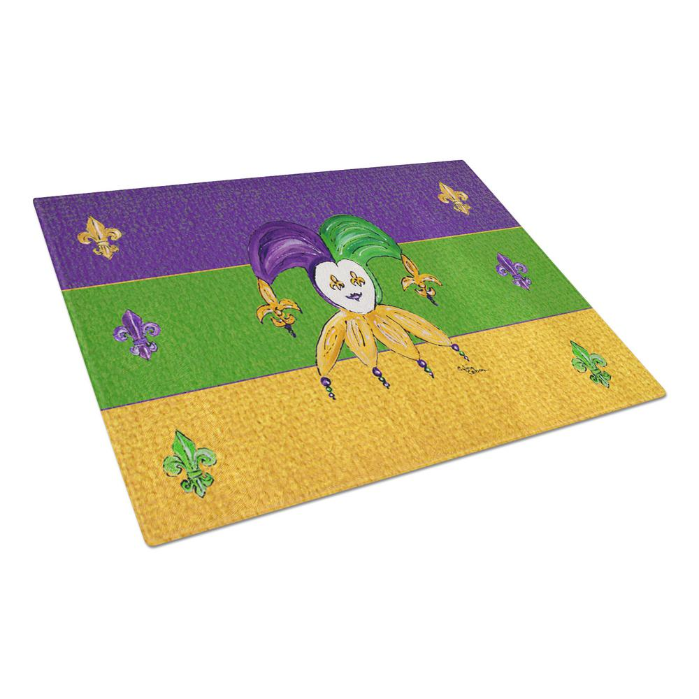 Mardi Gras Jester Tempered Glass Cutting Board