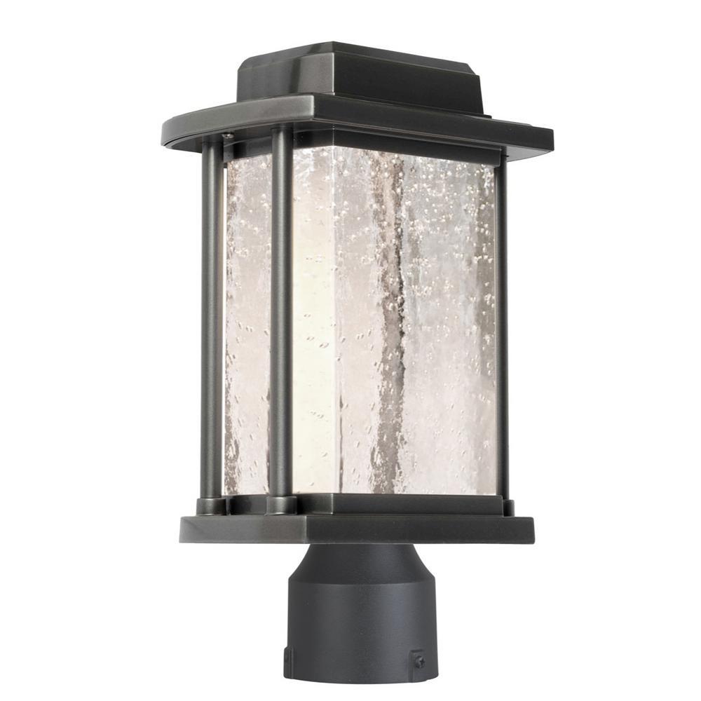 1-Light Outdoor Slate Post Light