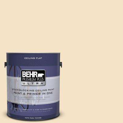 1 gal. No.UL180-16 Ceiling Tinted To Cream Puff Flat Interior Paint and Primer in One