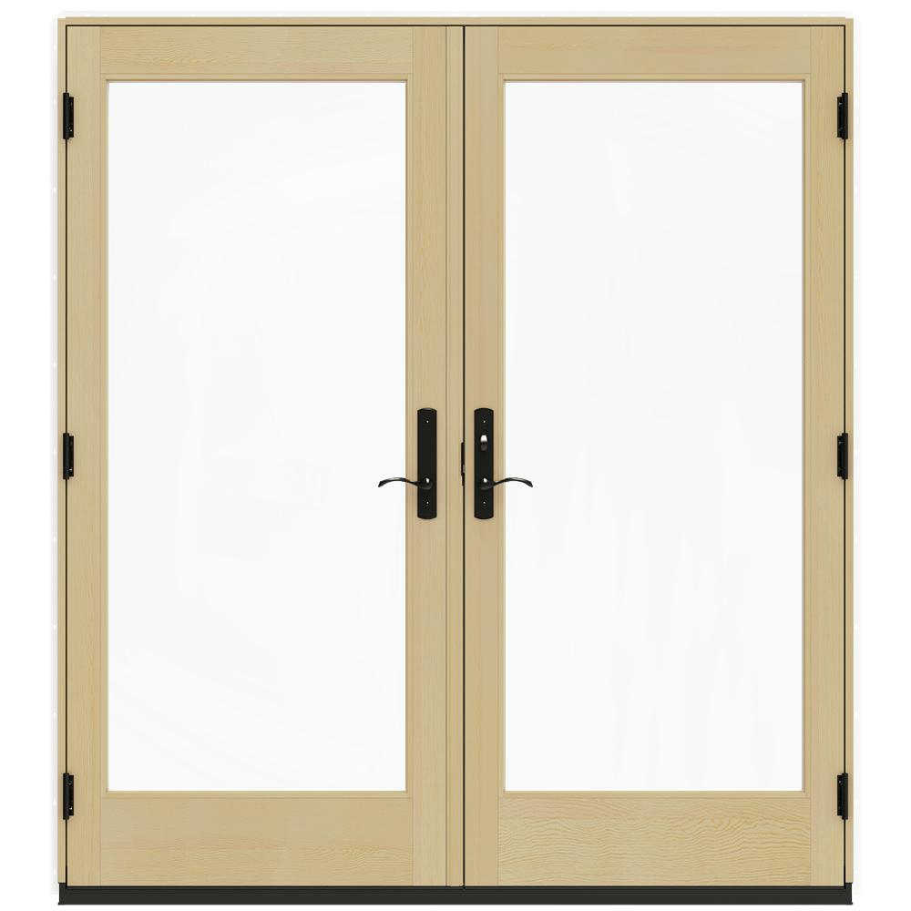 Jeld Wen 72 In X 80 In W 4500 White Prehung Left Hand Inswing French Patio Door With