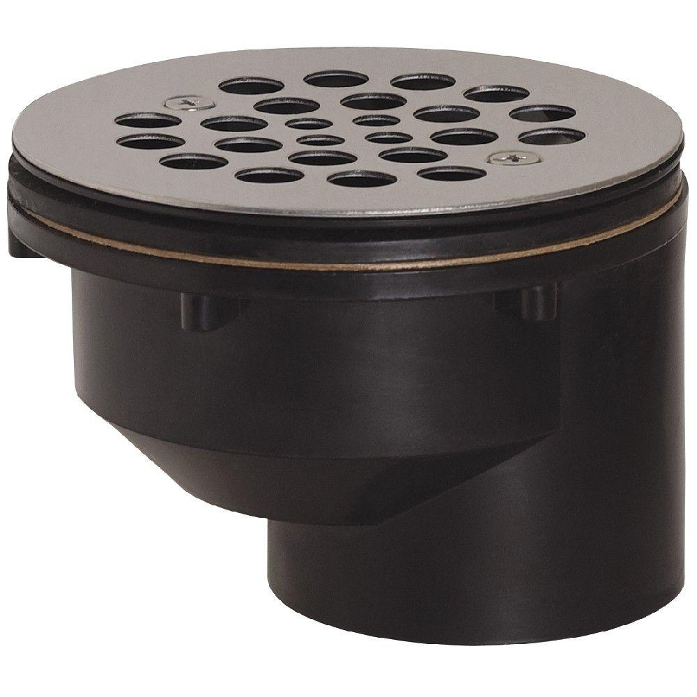 2 in black abs hub offset shower drain with strainer 825 2afs the black abs hub offset shower drain with strainer publicscrutiny