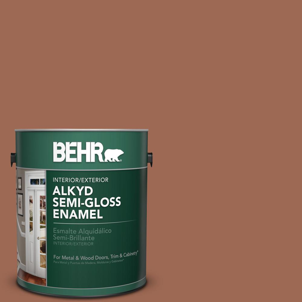 1 gal. #S180-6 Perfect Penny Semi-Gloss Enamel Alkyd Interior/Exterior Paint