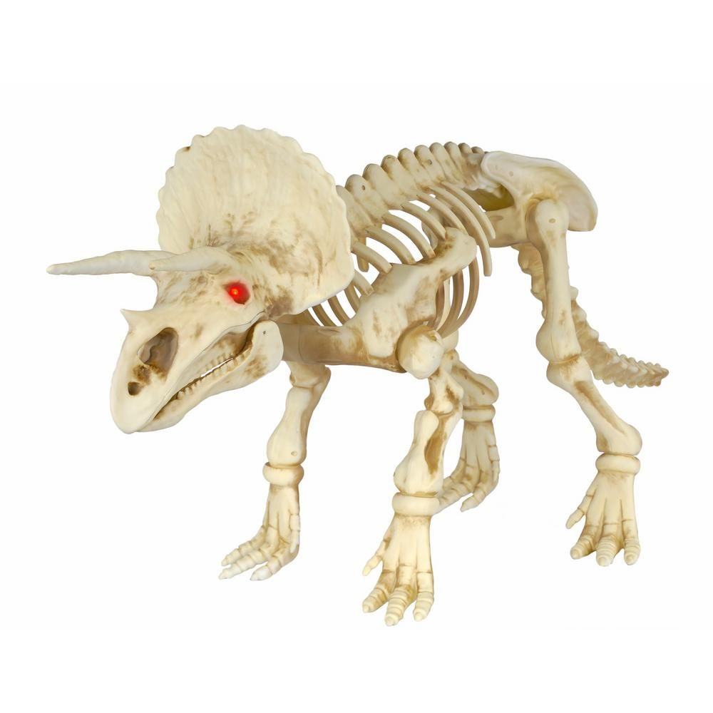 Home Depot Decorations: Home Accents Holiday 17 In. Animated Triceratops With LED
