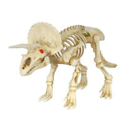 17 in. Animated triceratops with LED Illuminated Eyes