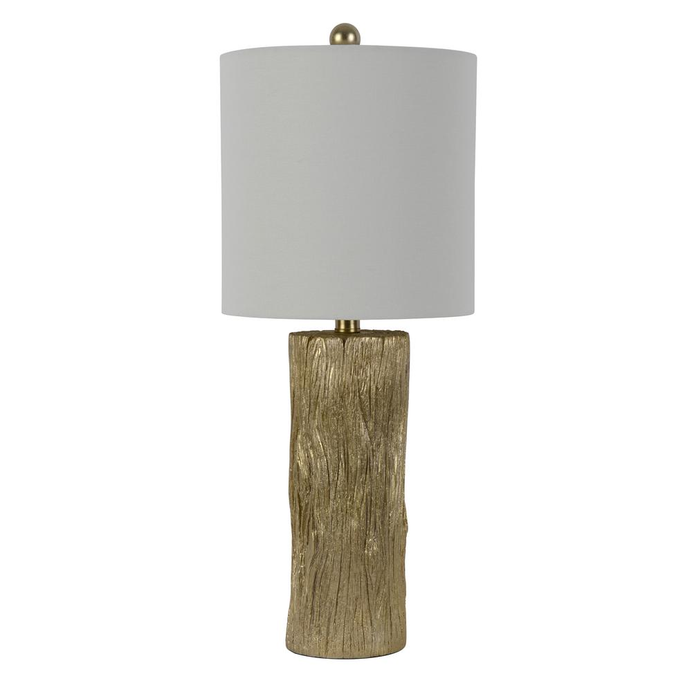 Olea 24 in. Gold Table Lamp with Linen Shade